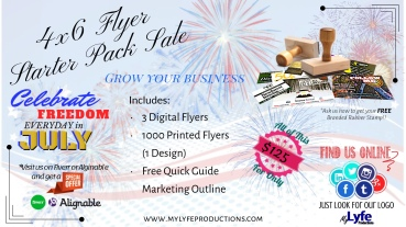 July 4x6 Flyer Starter Pack Banner