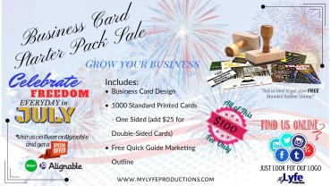 July Business Card Starter Pack Banner