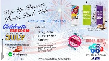 July Pop-Up Banner Starter Pack Banner